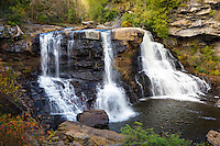 The Blackwater River, falls over a 62 foot embankment in Blackwater Falls State Park. The Park located in the Allegheny Mountains of Tucker County, West Virginia, offers scenic beauty and plenty of outdoor recreation including hiking, biking, and cross country skiing.