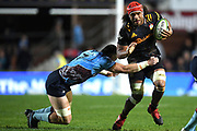 Zane Kapel of the Chiefs is tackled by Jack Dempsey of the Waratahs during the Round 5 Trans-Tasman Super Rugby match between NSW Waratahs and Waikato Chiefs at Brookvale Oval in Sydney, Saturday, June 12, 2021. (AAP Image/Dan Himbrechts) NO ARCHIVING, EDITORIAL USE ONLY