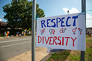 About 100 people participated in a Pride Rally in Milton, Pennsylvania on August 8, 2020. The I Am Alliance organized the event after an area grocery store posted an anti-mask sign which blamed the LGBTQ community for spreading COVID-19.