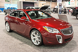 CHARLOTTE, NC, USA - November 11, 2015: Buick Regal on display during the 2015 Charlotte International Auto Show at the Charlotte Convention Center in downtown Charlotte.