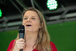 May 23, 2019 - Munich, Bavaria, Germany - Henrike Hahn on the stage. The European and German top candidate of the green party ( Buendnis 90 / Die Gruenen ) Ska Keller and Henrike Hahn, Bavarian top candidate of the the greens, spoke in Munich on  May 23, 2019. (Credit Image: © Alexander Pohl/NurPhoto via ZUMA Press)