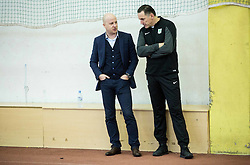 Marko Nikolic and Andrej Kracman during first training of NK Olimpija Ljubljana before spring season when presented Olimpija's new coach, on January 11, 2016 in ZAK stadium, Ljubljana, Slovenia. Photo by Vid Ponikvar / Sportida