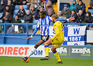 Sheffield Wednesday Forward Lucas Joao and Leeds United Defender Giuseppe Bellusci during the Sky Bet Championship match between Sheffield Wednesday and Leeds United at Hillsborough, Sheffield, England on 16 January 2016. Photo by Adam Rivers.