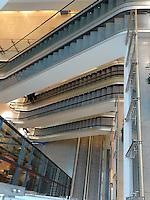 escalators in shopping mall in Konstanz, Germany