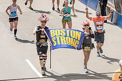 Boston Marathon start Boston Strong finish Oiselle runner