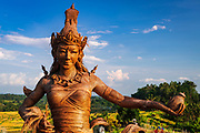 Dewi Sri statue (goddess of rice) made from dried rice, Jatiluwih Terrace (UNESCO World Heritage Site), Bali, Indonesia