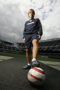5/27/2005 -- Chicago, IL, U.S.A<br /> US soccer player Bobby Convey is shown at Soldier Field in Chicago the day before the U.S. match up with England.<br /> Photo by John Zich, USA TODAY contract photographer