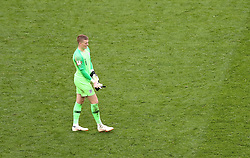 England goalkeeper Jordan Pickford after the final whistle during the FIFA World Cup third place play-off match at Saint Petersburg Stadium. PRESS ASSOCIATION Photo. Picture date: Saturday July 14, 2018. See PA story WORLDCUP Belgium. Photo credit should read: Tim Goode/PA Wire. RESTRICTIONS: Editorial use only. No commercial use. No use with any unofficial 3rd party logos. No manipulation of images. No video emulation.