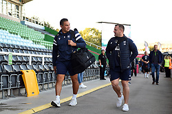 Bristol Bears Head Coach Pat Lam and Assistant Coach Conor McPhillips arrive at the Stoop - Mandatory byline: Patrick Khachfe/JMP - 07966 386802 - 20/09/2019 - RUGBY UNION - The Twickenham Stoop - London, England - Harlequins v Bristol Bears - Premiership Rugby Cup