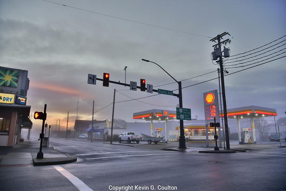 Early morning in Tillamook, Oregon.