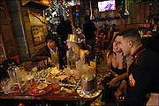 New Year's Eve celebration at Bubba Gump's Shrip Restaurant in Times Square