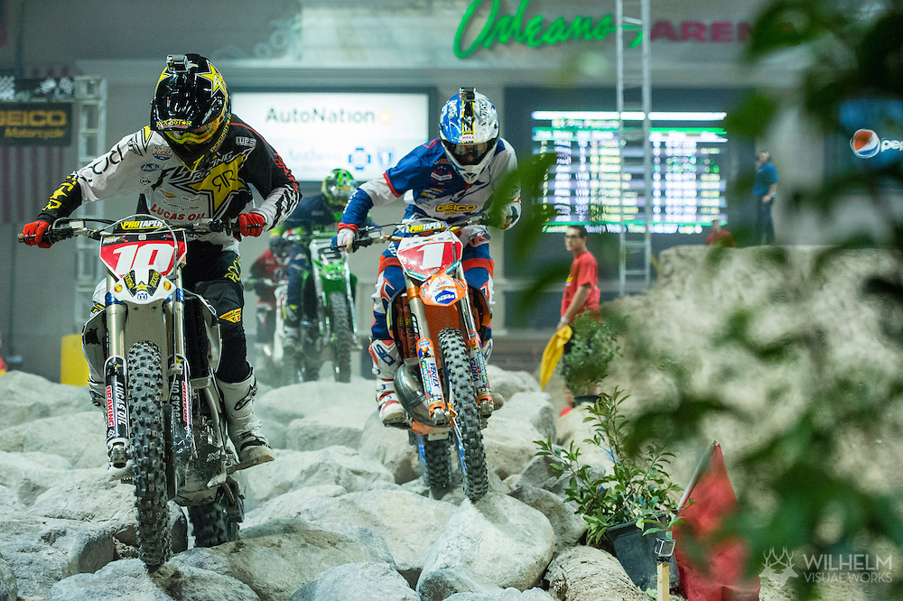 Colton Haaker would hold of Cody Webb in the finals at Endurocross Las Vegas, NV.
