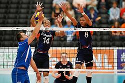 20170524 NED: 2018 FIVB Volleyball World Championship qualification, Koog aan de Zaan<br />Nimir Abdelaziz (14) of The Netherlands, Fabian Plak (8) of The Netherlands <br />©2017-FotoHoogendoorn.nl / Pim Waslander