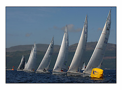 Bell Lawrie Series Tarbert Loch Fyne - Yachting.The third day's inshore races, which transpired to be the last...1720 startline on the Talisker One Design course.