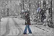SERIES - UNRELIABLE-SIGHTINGS by PAUL WILLIAMS- Snowy day Beaune DAY TRIPPER- Beaune in the snow at Christmas
