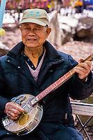 Elderly Chinese people, Columbus Park, Chinatown,  New York, New York USA.