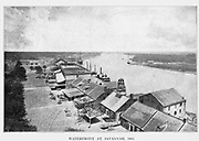 WATERFRONT AT SAVANNAH, 1865 from the book ' The Civil war through the camera ' hundreds of vivid photographs actually taken in Civil war times, sixteen reproductions in color of famous war paintings. The new text history by Henry W. Elson. A. complete illustrated history of the Civil war