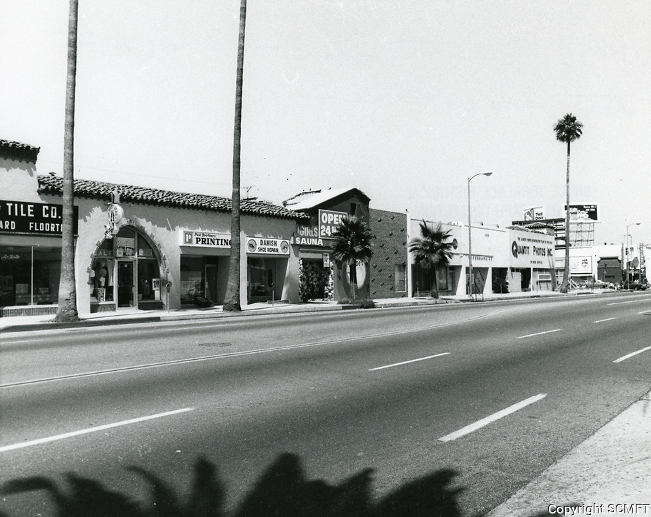 1976 Looking east on Sunset Blvd. from Western Ave.