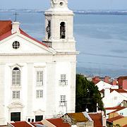 View of Santo Estevão Church at Lisbon