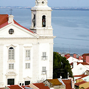 View of Santo Estevão Church at Lisbon