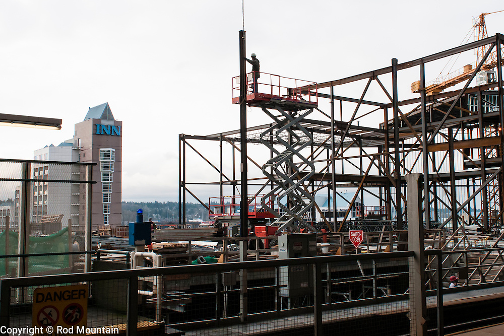 The New Westminster Station is being updated with the construction of a new platform and shops. The station originally opened in December of 1985.