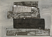 Peter Abrahams, ink on paper 64 x 90 cm. 1999