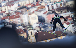 03.01.2014, Bergisel Schanze, Innsbruck, AUT, FIS Ski Sprung Weltcup, 62. Vierschanzentournee, Training, im Bild Pascal Kaelin (SUI) // Pascal Kaelin (SUI) during practice Jump of 62nd Four Hills Tournament of FIS Ski Jumping World Cup at the Bergisel Schanze, Innsbruck, <br /> Austria on 2014/01/03. EXPA Pictures © 2014, PhotoCredit: EXPA/ JFK