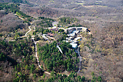 Aerial photograph of House on the Rock, a tourist attraction near Spring Green, Wisconsin, USA.