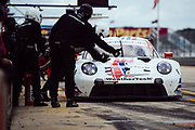 March 20, 2021. IMSA Weathertech Mobil 1 12 hours of Sebring: #79 WeatherTech Racing, Porsche 911 RSR-19 GTLM, Cooper MacNeil, Mathieu Jaminet, Matt Campbell