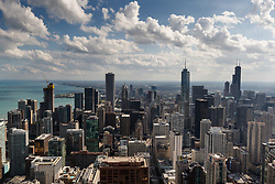 The view from the 360 Chicago observation area, Chicago
