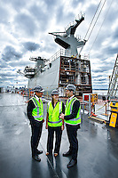 3/12/12 - WEST - ALTW - 33960 Visiting BAE Systems who are completing a new helicopter landing ship for the Australian navy are, (left to right) The Minister for Defence Stephen Smith, Attorney-General and Federal Member for Gellibrand Nicola Roxon, Minister for Defence Materiel Jason Clare,.Photo By Craig Sillitoe This photograph can be used for non commercial uses with attribution. Credit: Craig Sillitoe Photography / http://www.csillitoe.com<br /> <br /> It is protected under the Creative Commons Attribution-NonCommercial-ShareAlike 4.0 International License. To view a copy of this license, visit http://creativecommons.org/licenses/by-nc-sa/4.0/.