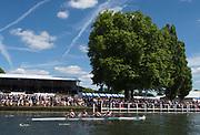 Henley-on-Thames. United Kingdom.  Women'd Four, rowing through the Stewards enclousure in the final. 2017 Henley Royal Regatta, Henley Reach, River Thames. <br /> <br /> <br /> 15:27:19  Sunday  02/07/2017   <br /> <br /> [Mandatory Credit. Peter SPURRIER/Intersport Images.
