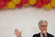 Juiz de Fora_MG, 18 de Setembro de 2010...Campanha Antonio Anastasia a o Governo de Minas 2010...O ex presidente da Republica Itamar Franco candidato ao senado pela coligacao Somos Minas Gerais,recebe apoio de policiais em evento no hotel ritz...Foto: MARCUS DESIMONI /  NITRO