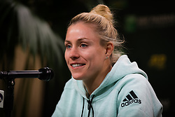 March 15, 2019 - Indian Wells, USA - Angelique Kerber of Germany talks to the media after her semi-final at the 2019 BNP Paribas Open WTA Premier Mandatory tennis tournament (Credit Image: © AFP7 via ZUMA Wire)