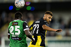 September 2, 2017 - Brugge, BELGIUM - Cercle's Jordy Gaspar and Lierse's Yvan Yagan fight for the ball during a soccer game between Cercle Brugge KSV and Lierse SK in Brugge, Saturday 02 September 2017, on day four of the division 1B Proximus League competition of the Belgian championship. BELGA PHOTO JASPER JACOBS (Credit Image: © Jasper Jacobs/Belga via ZUMA Press)