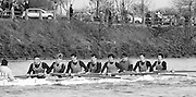 Chiswick. London.<br /> Eights starting from Mortlake<br /> Agecroft,<br /> 1987 Head of the River Race over the reversed Championship Course Mortlake to Putney on the River Thames. Saturday 28.03.1987. <br /> <br /> [Mandatory Credit: Peter SPURRIER;Intersport images] 1987 Head of the River Race, London. UK