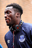 Everton's Romelu Lukaku arrives at Turf Moor. Barclays Premier league match, Burnley v Everton at Turf Moor in Burnley, Lancs on Sunday 26th October 2014.<br /> pic by Chris Stading, Andrew Orchard sports photography.