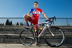 Bruno Maltar of Cycling Team Adria Mobil poses for a portrait session ahead of the 2014 road season on February 25, 2014 in Cesca vas at Novo mesto, Slovenia. Photo by Vid Ponikvar / Sportida