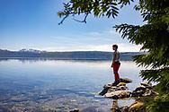 VILDMARKSVÄGEN JULI 2020<br /> Vacker vy över den kristallklara Blåsjönunder helgens tur efter Vildmarksvägen.<br /> Foto: Per Danielsson/Projekt.P
