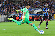 Sergio Romero Goalkeeper of Manchester United clears the ball during the Champions League Qualifying Play-Off Round match between Club Brugge and Manchester United at the Jan Breydel Stadion, Brugge, Belguim on 26 August 2015. Photo by Phil Duncan.