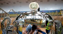 Trophy during handball match between RK Cimos Koper (SLO) and Benfica (POR) in return final match of EHF Challenge Cup, on May 22, 2011 in Arena Bonifika, Koper, Slovenia.  (Photo By Vid Ponikvar / Sportida.com)