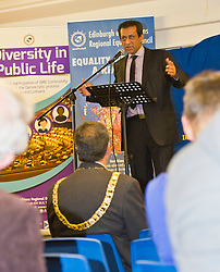 Pictured: Foysol Choudhury, MBE, Edinburgh and Lothians Regional Equality Council chair<br /> <br /> SNP Brexit minister Mike Russell spoke at an Edinburgh and Lothians Regional Equality Council event which aimed to facilitate discussion between service providers in the public and third sectors, and asylum seekers and refugees in order to hear about the circumstances and needs.<br /> <br /> Ger Harley | EEm 6 December 2016