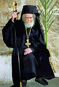 Orthodox monk at St Catherine's Monastery in Sinai Desert in Egypt
