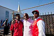 """Friend's of Kevin.<br /> Funeral services for Kevin """"Flipside"""" White at Macedonia Church in Watts.<br /> White was shot dead in what is believed to be an unprovoked attack during a gang conflict at Watts' Nickerson Gardens and Jordan Downs housing projects.<br /> Flipside, 44, was a founding member of Watts' first major label hip hop act, O.F.T.B. (Operation From The Bottom)."""