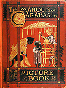 Illustrated book cover From the Book The Marquis of Carabas' picture book : containing Puss in Boots, Old Mother Hubbard, Valentine and Orson, the absurd ABC. Illustrated by Walter Crane, Edmund Evans, and Sarah Catherine Martin. Publisher London (The Broadway, Ludgate) ; New York (416 Broome Street) : George Routledge and Sons in 1874