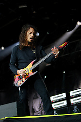 Kirk Hammett of Metallica plays the main stage at the Download Scotland festival at Glasgow Green, Glasgow on 2/06/2004.