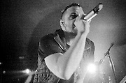 AUSTIN, TX - APRIL 10, 2009: Justin Furstenfeld of rock and roll band Blue October performs at Stubb's BBQ during the SXSW music festival.