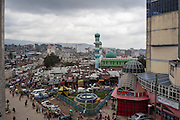 Una vista panoramica del quartiere Mercato, Addis Ababa 16 settembre 2014.  Christian Mantuano / OneShot <br /> <br /> A panoramic view of the market district, Addis Ababa September 16, 2014