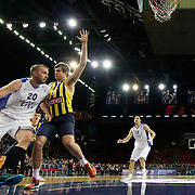 Anadolu Efes's Dusko Savanovic (L) during their Turkish BEKO Basketball League derby match Anadolu Efes between Fenerbahce at Abdi ipekci Arena in Istanbul, Turkey, Monday, February 03, 2014. Photo by Aykut AKICI/TURKPIX