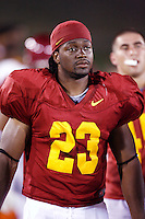 22 August 2007: Tailback #23 Chauncey Washington in action during USC Trojans NCAA Pac-10 college football team fall intrasquad scrimmage at the LA Memorial Coliseum on Wednesday night infront of 18,000 fans who attended for free.